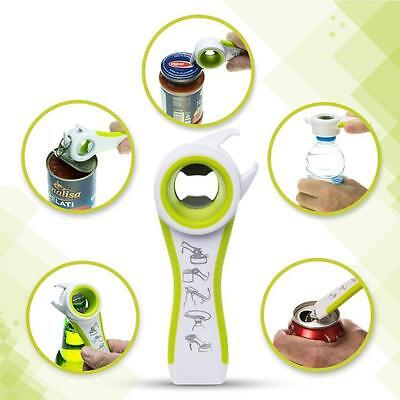 Home Kitchen Multifunction 5 in 1 Bottles Jars Cans Manual Opener Tool Gadget US