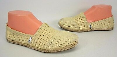 8e45698e4db Toms Classic Mesh Canvas Slip On Shoes Womens Size 6.5 Ballet Flats  Moccasins