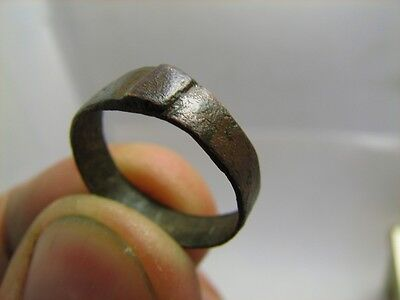 Very Nice Bronze Medieval Ring  .100% Wearable Artifact #6178