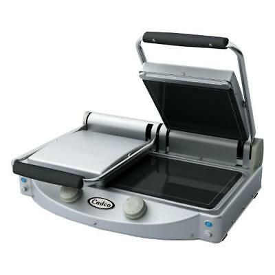 Cadco - CPG-20F - Double Panini Grill with Smooth Plates