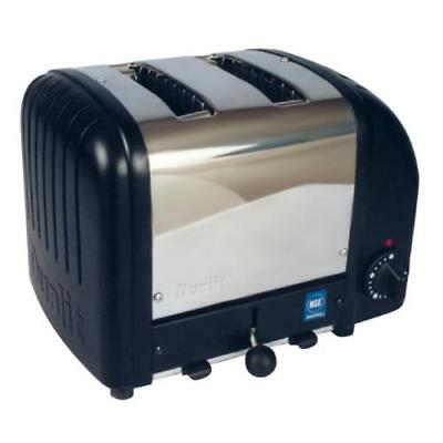 Cadco - CBT-2B - Stainless Steel and Black 2 Slot Heavy Duty Bagel Toaster