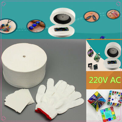 1 Set Large Microwave Kiln w/Pair of White Cotton Gloves & 10Pcs Backing Papers