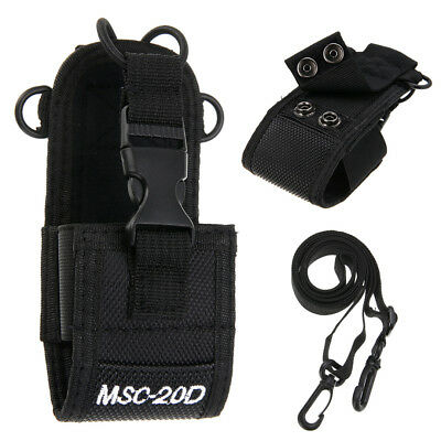 Pouch Nylon Holster Case Bag MSC-20D For Baofeng Motorola Kenwood Radio YAESU