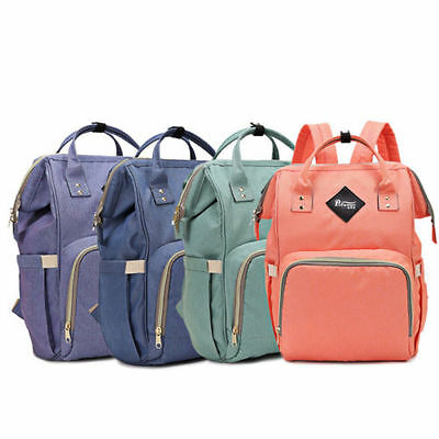 Multifunctional Baby Diaper Nappy Backpack Waterproof Large Changing Bag New