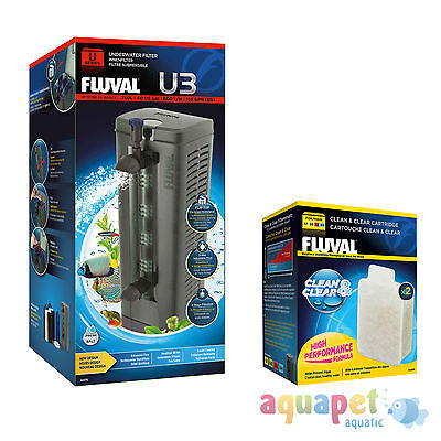 Fluval U3 Underwater Filter 150L NEW! with FREE Clean & Clear Cartridge
