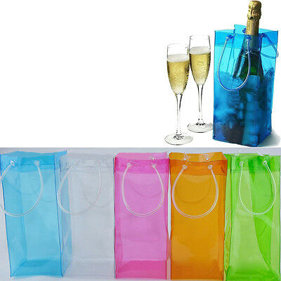 Durable Clear PVC Tight Champagne Drink Wine Beer Bottle Ice Bag Chiller Cooler