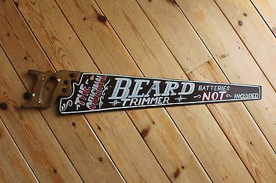 Personalised Rusty Saw Sign Plaque Bar Shop Tattoo Barber Boutique Hotrod VW