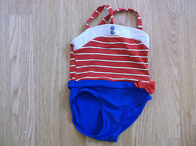 Girls TU Red white and blue Swimsuit age 18-24 Months