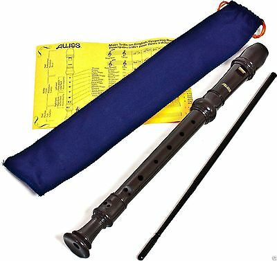 Aulos 303A Descant Soprano Recorder (Blue Bag) School Recorder 3 peice - New