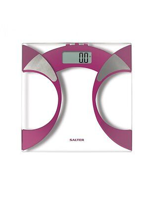 Salter 9141 Ultra Slim Body Fat Analyser LCD Display Bathroom Memory Scales