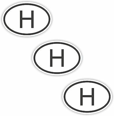 3x Black /& White Oval Stickers Cyprus Small Country Code Bumper Laptop Tablet