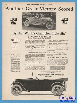 1918 Elgin Motor Car Corp Chicago IL WWI  US War Department Six automobile Ad
