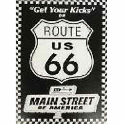 Get Your Kicks on Route 66 Main Street of America Tin