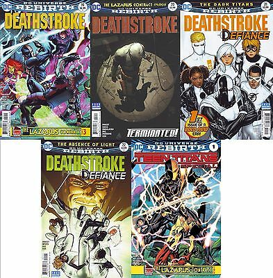 Teen Titans Rebirth Special #1 + Deathstroke #19 20 21 22 (Dc) Lazarus Contract