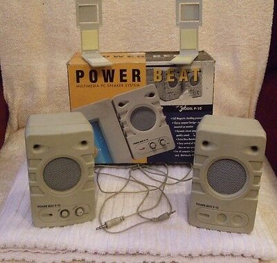 COMPUTER MULTIMEDIA PC SPEAKER SYSTEM by POWER BEAT - BOXED - USED CONDITION