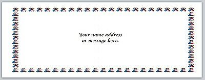 30 Personalized Return Address Labels US Flag Buy 3 get 1 free (bo 608)