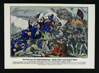 Currier & Ives Civil War Print - Battle of Chattanooga Tennessee - Nov. 24, 1863