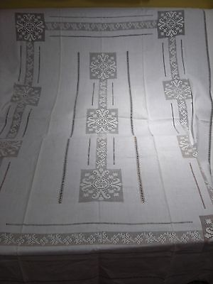 Antique Linen Croched  Tablecloth  White Work     B28