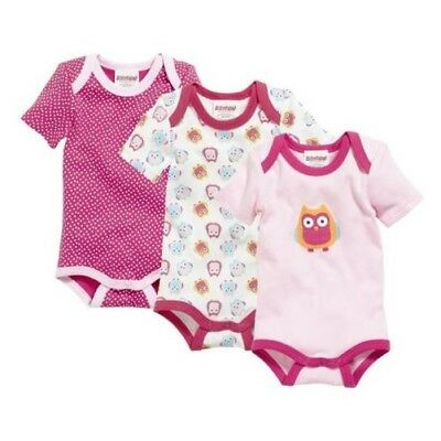SCHNIZLER Body Suit 1/4-Arm Pack of 3 Owl Size Selection