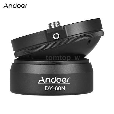 "Andoer DY-60N Tripod Leveling Base Leveler w/ 3/8"" to 1/4"" Screw for DSLR Camera"