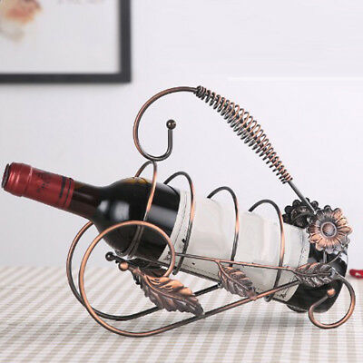 Wine Rack Champagne Bottle Bracket Holder for Dinner Table Decor Bronze