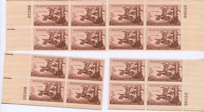 4 corners Matched Plate Block set Scott 1077  Wild Turkey  25398  MNH