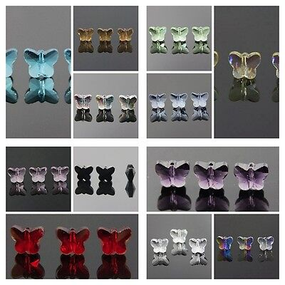 6pcs 5x6x10mm Butterfly Crystal beads