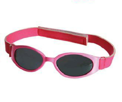 Baby Sunglasses Pink Oval Shape For Babies With Hook & Loop Tape Fastener Uv400