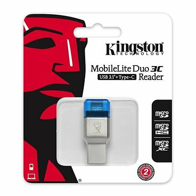 Kingston Lettori memory Card Reader USB 3.1 FCR-ML3C Micro SD TF Type-C