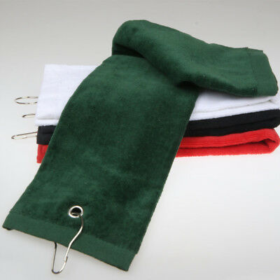 Black Army Green White Red Cotton Golf Bag Towel Golf Towel with Carabiner Clip