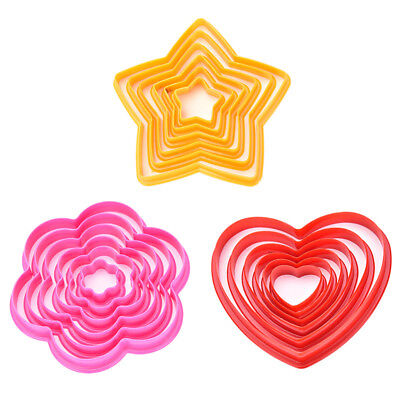 6 Pcs 3D Star Decoration Cutter Cookie Biscuit Set for Gift Christmas Tree EW