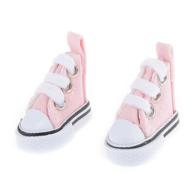 Pink 3.5cm High-top Canvas Sneakers for 1/6 Blythe Dolls Accessories