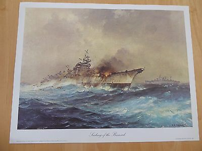Naval Print - THE SINKING OF THE BISMARK
