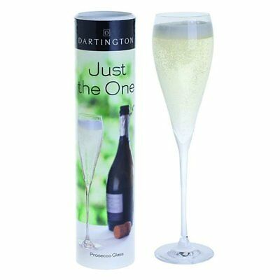 Dartington Just the One Prosecco Glass - Single Sparkling Wines Flute Gift Set