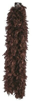 Turkey Brown Boa Exotic Dark Brown Feathers Adult Halloween Costume Accessory