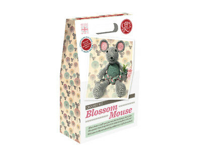The Crafty Kit Company | Blossom Mouse Crochet Kit | Intermediate | CKC-CK-010