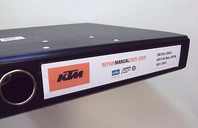 Ktm 250 Workshop Repair Manual 05-08 Excf,sxf,xc & Users Manual Combined