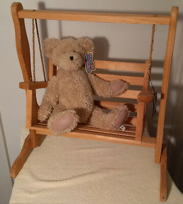 Boyds Becca's Wooden Swing for 2 #65609 (Bear not included)-Good Ol' Days Collec