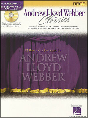 Andrew Lloyd Webber Classics Oboe Sheet Music Book & Play-Along CD