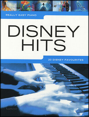 Really Easy Piano Disney Hits Sheet Music Book Frozen Wall-E Cinderella Mulan