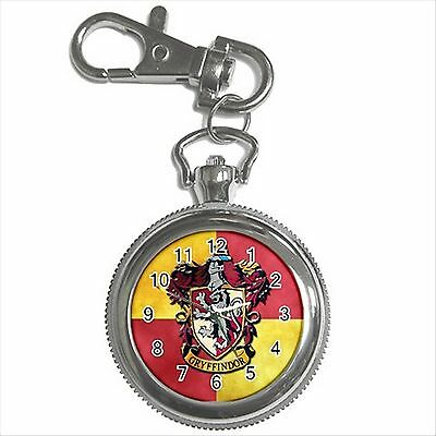 NEW HARRY POTTER GRYFFINDOR HOGWARTS SCHOOL Key Chain Ring Watch Gift D03