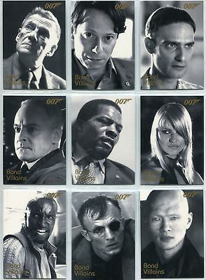 James Bond In Motion Complete Bond Villains Chase Card Set F42-63