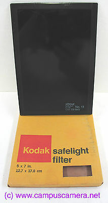 "Kodak Safelight Filter #13, 5x7"" Size, Color & Panchromatic Paper Cat# 1796663"