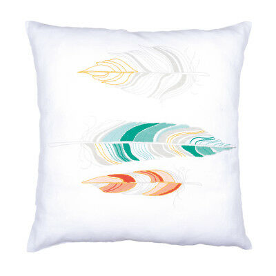 VERVACO Embroidery Kit: Cushion: Feathers PN-0162182