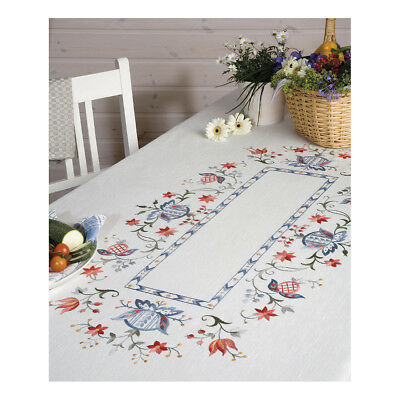 ANCHOR   Embroidery Kit: Folklore - Large Linen Tablecloth   92400007132