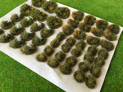 Serious-Play Winter Pro Dioramas -Static Grass Mixed Tufts Model Scenery Railway