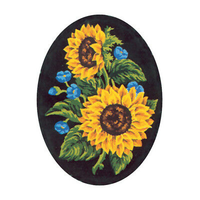 COLLECTION D'ART | Printed Canvas: Sunflowers on Oval Background |CD7021