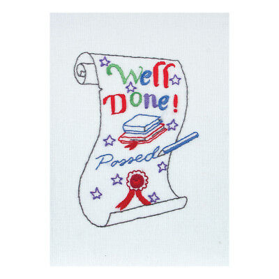 ANCHOR   Embroidery Kit: Exams Scroll Card   RDK45