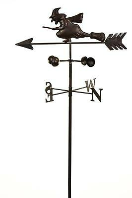 Dark Metal Witch Wind Weathervane Weather Vane Garden Spinner Ornament