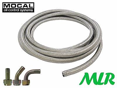 S100R6-10 5/8Bsp S/S Braided Oil Cooler Hose Pipe With Straight 45 90 Fittings